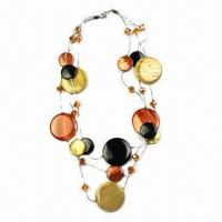 Colorful Shell Jewelry/Fashionable Necklace with Metal Chain, Various Colors/Designs are Available Manufactures