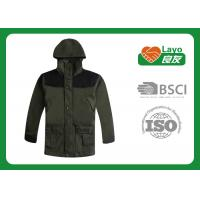 Olive Color Outdoor Softshell Jacket Multi Function For Adults