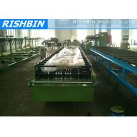 Steel Eaves Trim Roof Panel Roll Forming Machinery 1.5 Inch Chains Manufactures