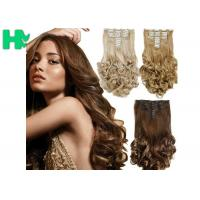 8 Inch – 30 Inch Clip On Synthetic Hair Extensions With Blonde Curly Body Wave Manufactures