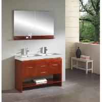 China Double 47.5Wooden Bathroom Vanity (CHERRY S58269) on sale