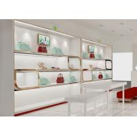 Beautiful Adjustable Wood Shelving / Shoe Wall Display For Lady Shoe Mall Manufactures
