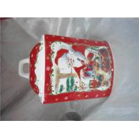 Buy cheap Christmas Ceramic Biscuit Canister Pot With Airproof Seal Ring 12 X 10 X 18 Cm from wholesalers