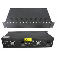 China 14 Slot Rackmount Chassis Fiber Optic Converter With 4 Fans 2 Power Supply on sale