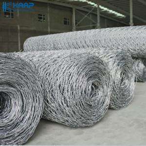 China Galvanized Heavy Hexagonal 0.3mm Woven Wire Mesh on sale