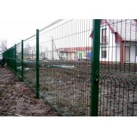 China Green Galvanised Welded Mesh Fencing Panel / Rigid Panel Corrosion Resistance on sale