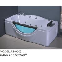 6 adjustable feet bubble jet bathtub White color , free standing air bathtubs excellent penetrability Manufactures
