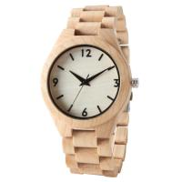 China All Maple Wooden Quartz Watch Mineral Glass Most Accurate Man Fashion Clock on sale