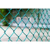 7 Ft PVC Coated Chain Link Fence Fabric Residential Hot Dipped Galvanized Manufactures