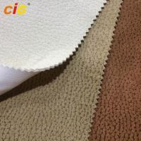 Heat - Insulation Blackout Shrink - Resistant Embossed Suede Fabric For Upholstery / Luggage Manufactures