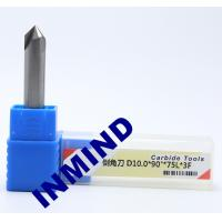 Carbide Chamfer Tool Milling Machine End Mills , 8mm Diameter 90 Degree Milling Cutter Manufactures