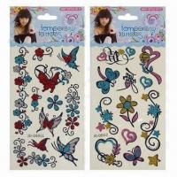 Glitter Tattoo Sticker of Rose Style Manufactures