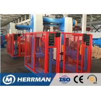 Aluminum Conductor Cable Rewinding Machine With Taping Head 100m / Min Line Speed Manufactures