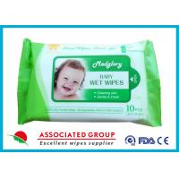 Skin Care Natural Baby Wipes No Chemicals White 10pcs Package 50gsm Weight Manufactures