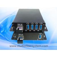 Buy cheap 4Port USB2.0 fiber optical extender for 1.1/2.0 usb 5KM remotely applied in video conferencing, CCTV,multimedia etc from wholesalers