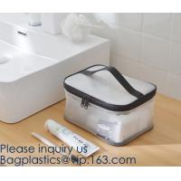 Clear Toiletry Makeup Bag, Travel Case, Cosmetic Organizer PVC Plastic w/Handle,Travel Organizer for Women & Man, Polyes Manufactures