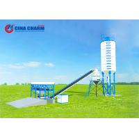 Electronic Control Stationary Concrete Batching Plant With Screw Conveyor Manufactures