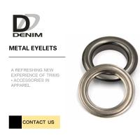 Outdoor Clothing Metal Eyelet Rings Replacement Good Chemical Resistance Large Size Manufactures
