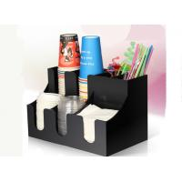 Acrylic straw tissue box paper cups holder for bar or cafe Manufactures