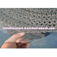 Crimped / Flat  Monel 400 Knitted Mesh Silver White For Oil - Gas Separation Manufactures