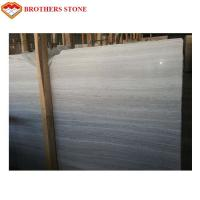 Polished White Wooden Marble Slab Chinese Serpeggiante White Marble Manufactures
