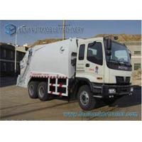 Foton 3 Axles Compactor Garbage Trucks 6x4 Drive 16 m3 - 18m3 Capacity Manufactures