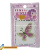 Temporary Tattoo Sticker With Glitter Powder (HTST066) Manufactures