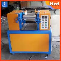 China Professional Plastic Rubber Testing Equipment 4 Inch 2 Way Laboratory Mixing Mill on sale