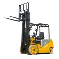 China 4 Wheel Battery Powered Forklift Truck Solid Tyre 3T Uploading on sale