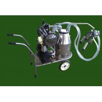 XD32WY-1 single bucket and oilless Vacuum pump Electric motor mobile milking machine Manufactures