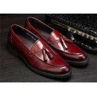 China Full Grain Cow Leather Classic Dress Shoes With Tassels For Office Work on sale