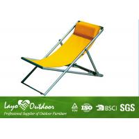 Metal / Fabric Portable Folding Beach Chairs Collapsible L104 X W54 X H81 Manufactures