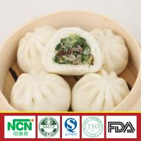 chinese dim sum frozen Steamed Stuffed Bun with Mushroom and Vegetable Stuffing Manufactures