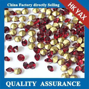 China Factory Point Back Rhinestone Stones Wholesale Flatback Round Stones Rhinestone All Sizes and Colors Manufactures