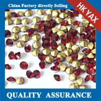 china wholesale pointback rhinestone glue on,rhinestone pointback for bags dresses, high quality point back glass stone Manufactures
