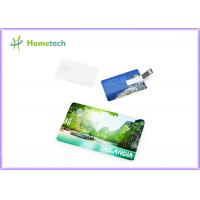 Unique Full Color Printing Usb Plastic Card 4GB 8GB 1 Year Warranty Manufactures