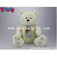 EN71 Approved Lovely Beige Teddy Bear Toys With Scarf Manufactures