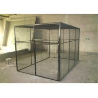 outdoor welded mesh parrot/birds aviary house black powder coated big aviary cage for sale Manufactures