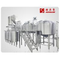 Automatic / Semi Automatic Craft Beer Brewing Equipment 1000L 3 Vessels Manufactures