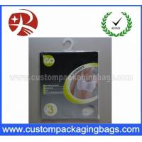 OEM Resealable Plastic Hanger Bags With Ziplock For Llingerie Manufactures