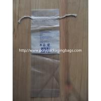 Quality LDPE Clear Drawstring Plastic Bags With Perforation For Cotton Wool Pads for sale