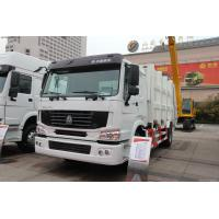 China German MAN technology 6x4 16m3 heavy duty rear loading garbage truck with pressing mechanism on sale