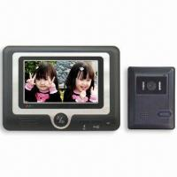 4-wire Handsfree Color Video Doorphone with 7-inch TFT-LCD Screen Manufactures