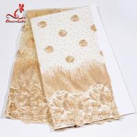 African Swiss Tulle Bridal Lace Fabric For Haute Couture Dress Manufactures