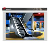 Rise 6000mm Rubber Handrails Indoor VVVF Moving Walk Escalator With Aluminum Alloy Comb Board