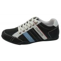 China Casual shoes of men,Upper:PU, Outsole Rubber,Size:40-45 black color on sale