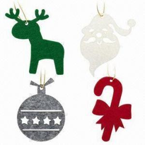 Lasercut 3mm FELT Christmas Pendants, Comes in 7 x 7cm Size Manufactures