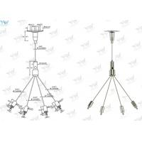 Billboard Wire Suspension Kit , Wire Rope Hanging System 30 KG Safe Working Load Manufactures