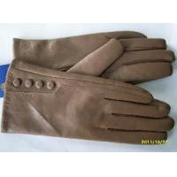 Lady′s Leather Gloves with Four Buttons (BL1015) Manufactures