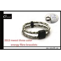 Custom Size Colorful Elastic Fibre Health Care Negative ion Power Silicone Bracelet GT-060 Manufactures